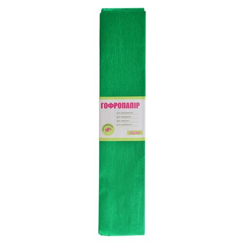 Бумага гофрированная 1 Вересня Металлик зеленый 20% 50x200 см (703005)