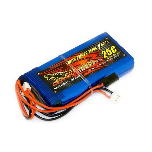 Аккумулятор Dinogy Li-Pol 2800mAh 7.4V 2S 18x45x96 для FrSky Taranis Q X7 (DLC-2S2800TX-QX7)