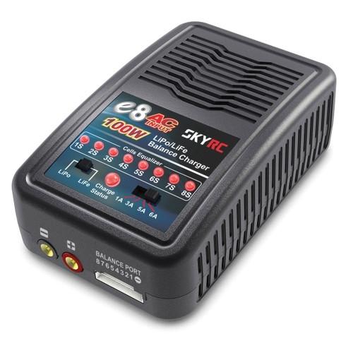 Зарядное устройство SkyRC E8 1/3/5/6A с/БП 100W LiPo 1-8S (SK-100096)