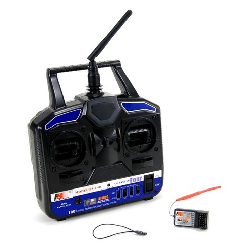 Аппаратура управления 4-канальная FlySky FS-T4B 2.4GHz с приёмником R6B (FS-T4B+R6B)
