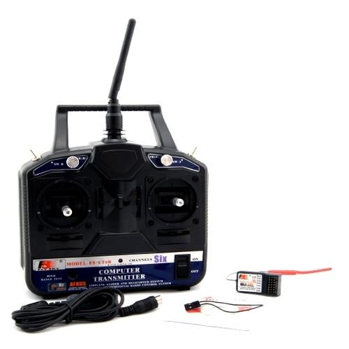 Аппаратура управления 6-канальная FlySky FS-CT6B 2.4GHz с приёмником R6B (FS-CT6B+R6B)