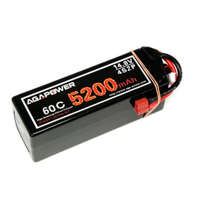 Аккумулятор Aga Power Li-Po 5200mAh 14.8V 4S1P 60C Hardcase 48x47x138мм T-Plug (AGA60-5200-4S-H)