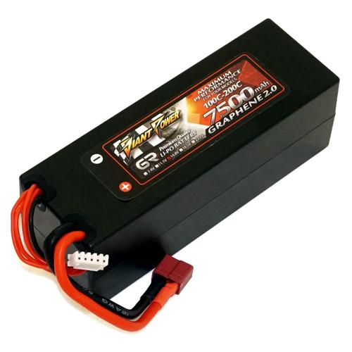 Аккумулятор Giant Power G2.0 Li-Pol 7500mAh 14.8V 4S 100C Hardcase 48x46x139 T-Plug (DLC-4S7500XTH-T)