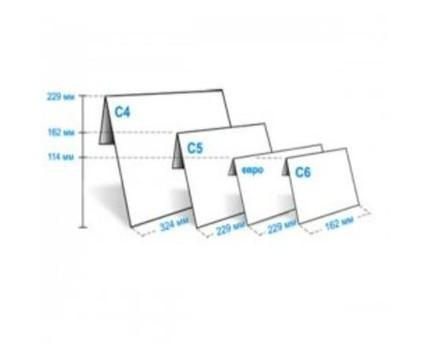 Конверт Куверт С6 114х162мм белый термоупаковка (1040_50)