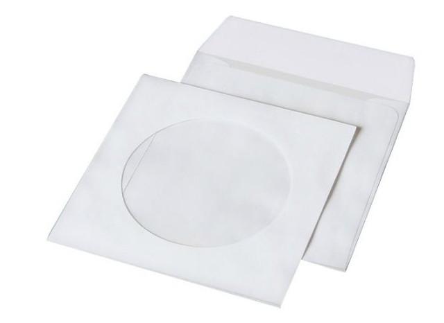 Конверт Куверт для CD 124х124мм белый НК с окошком термоупаковка (6108_50)