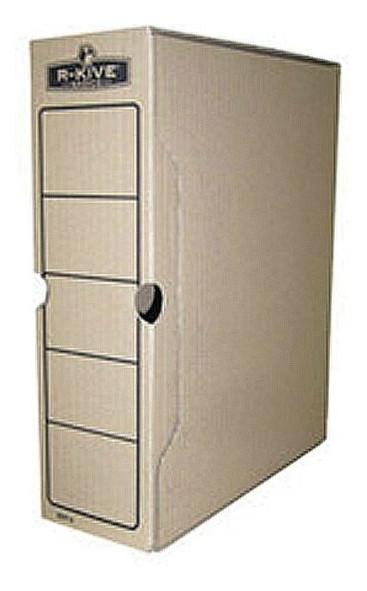 Бокс для архивации документов Fellowes R-Kive Basics 80мм, коричневый f.91402