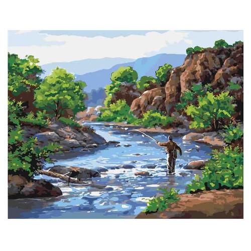 Картина по номерам Сельский пейзаж Отдых душой Идейка KHO2250