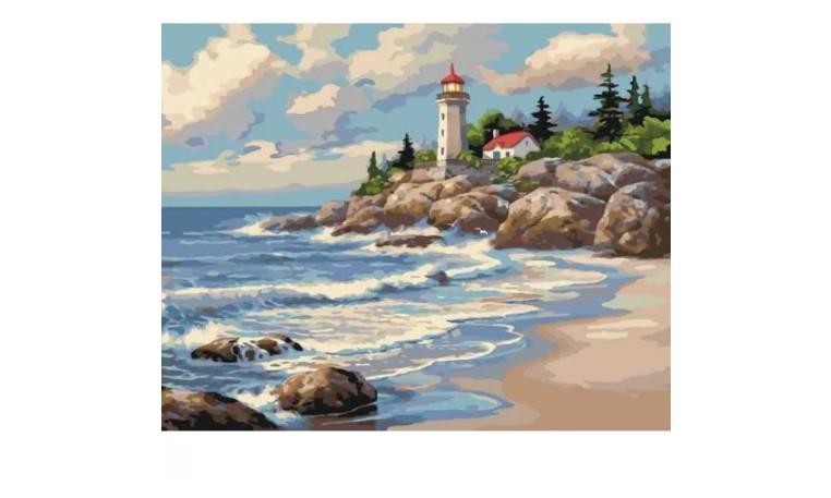 Картина по номерам Сельский пейзаж Тихая бухта Идейка KHO2249