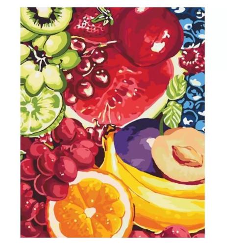 Картина по номерам Цветы Сладкие фрукты Идейка KHO2937