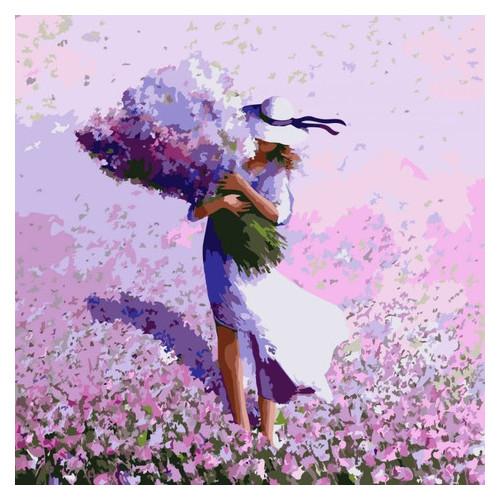 Картина по номерам Люди Цветочное поле Идейка KHO2660
