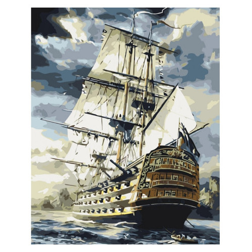 Картина по номерам Морской пейзаж Линкор Идейка KHO2710