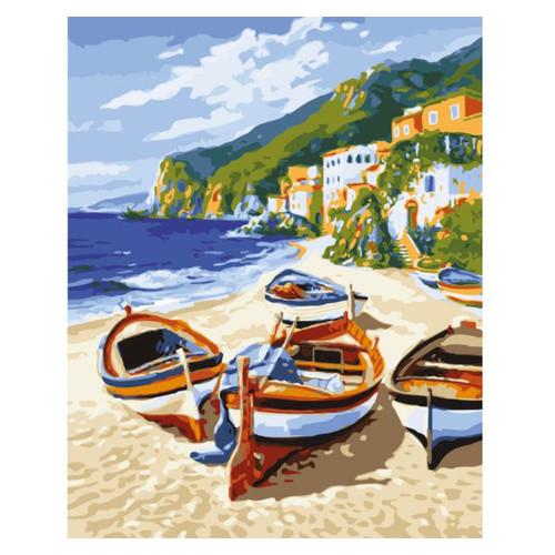 Картина по номерам Морской пейзаж Тихая гавань Идейка KHO2721