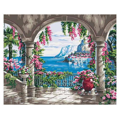 Картина по номерам Идейка Сельский пейзаж Райское место 2 40х50 см (KHO2235)