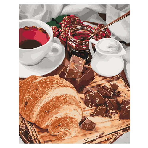 Картина по номерам Идейка Французский завтрак 40х50 см (KHO5573)