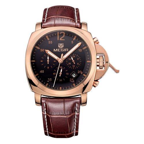Часы Megir Gold Black Brown MG3006 ML3006GREBN-1N0