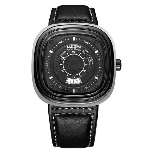 Часы Megir Gray Black MG2027 ML2027G-BK-1