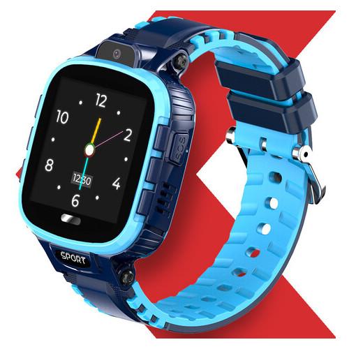 Детские водонепроницаемые смарт-часы с GPS Jetix DF45 (WiFi + Anti Lost Edition) Blue