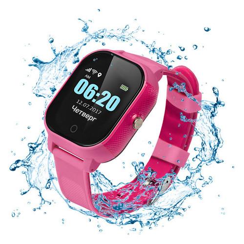 Детские водонепроницаемые смарт-часы с GPS Jetix DF50 Ellipse Aqua (Pink)