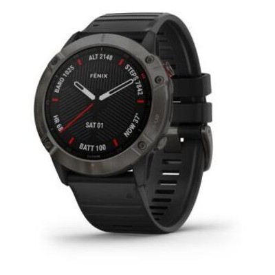Смарт-часы Garmin Fenix 6X Pro Sapphire Carbon Grey DLC with Black Band (010-02157-11/10)