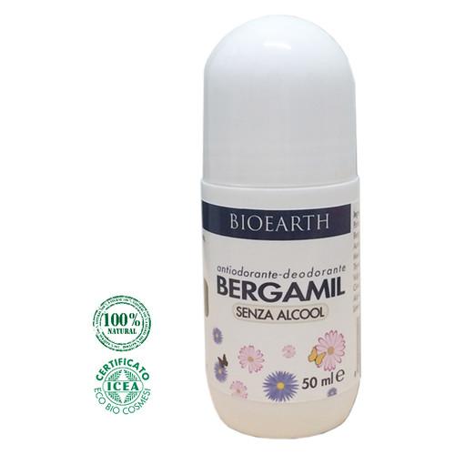 Дезодорант роликовый для тела Bioearth на основе бергамота