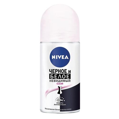 Дезодорант-антиперспирант Nivea Clear Невидимая защита для черного и белого, 50 мл 035264