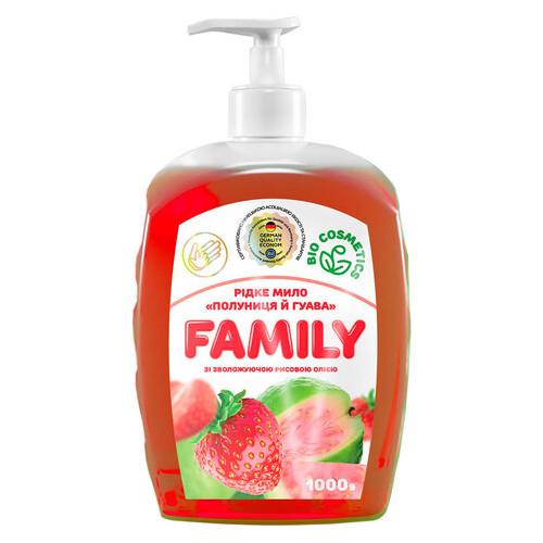 Жидкое мыло For my Family Клубника и гуава с увлажняющим рисовым маслом 1 л 722522