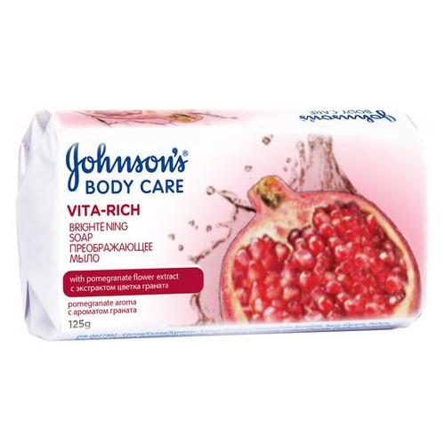 Мыло Johnsons Body Care Vita Rich Преображающее экстракт граната 125 г (3574661239545)