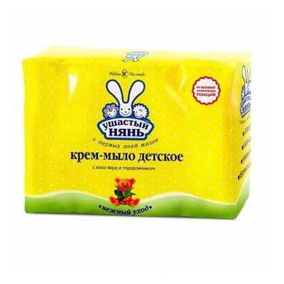 Крем-мыло Ушастый нянь с алоэ 4x100г (4600697102009)