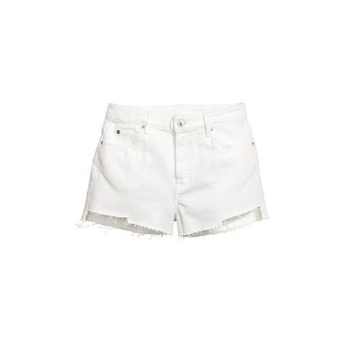 Джинсовые шорты  H&M  32  Белое  (0476366004)