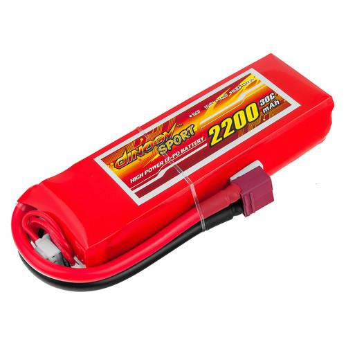 Аккумулятор Dinogy Li-Pol 2200mAh 11.1V 3S 30C 22x36x110мм T-Plug (DLC-3S2200D-T)