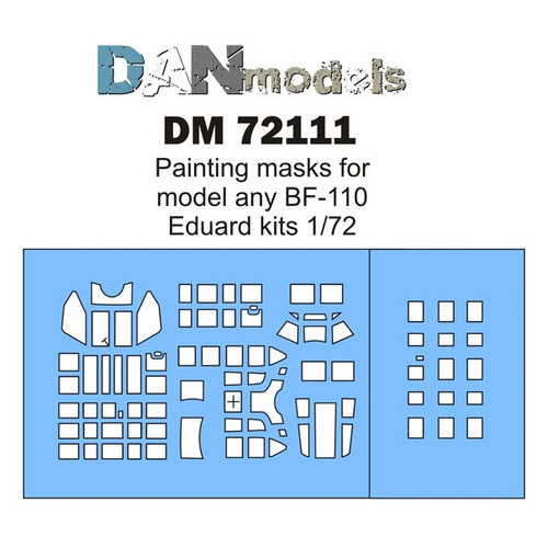 Маска для модели DAN models Самолет BF-110 (DAN72111)