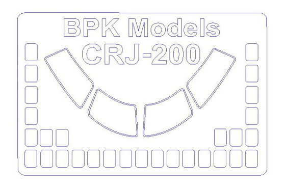 Маска KV Models CRJ-100/200 (KVM72646)