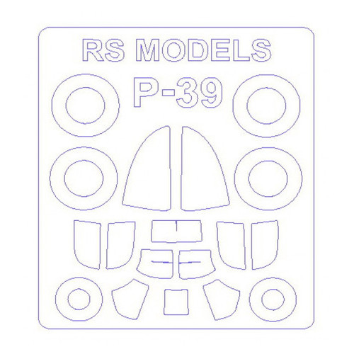Маска KV Models P-39 RS Models (KVM72565)