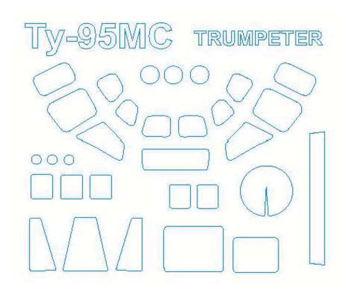 Маска KV Models ТУ-95 МС Trumpeter (KVM72077)