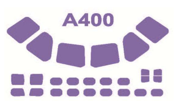 Маска для модели KV Models Самолет Airbus A400M (KVM72137)