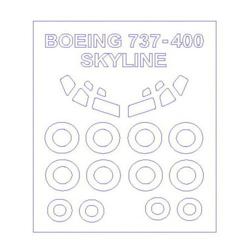 Маска для модели KV Models Самолет Boeing 737 -300 400 500 (KVM14410)