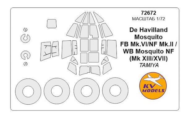 Маска для модели KV Models Самолет Mosquito FB Mk VI/II (KVM72672)