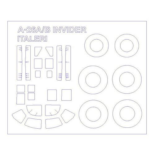 Маска для моделей самолета KV Models A-26A/B Invider (KVM72543)