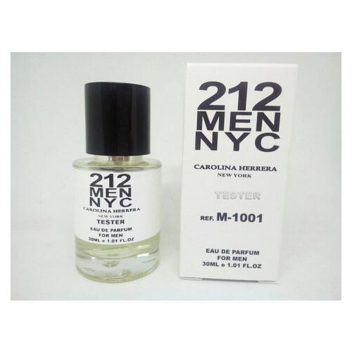 Парфюмированная вода Carolina Herrera 212 Men NYC Масляный 30 мл (Лицензия)