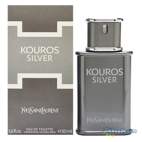 Туалетная вода Yves Saint Laurent Kouros Silver для мужчин (оригинал) - edt 50 ml