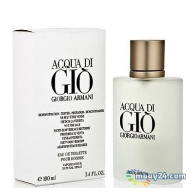 Туалетная вода Giorgio Armani Acqua di Gio Pour Homme edt 100 ml spray tester (M) (3360372728313)