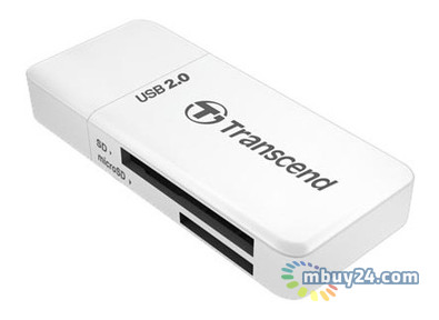 Картридер Transcend USB 2.0 5-in-1 White (TS-RDP5W)