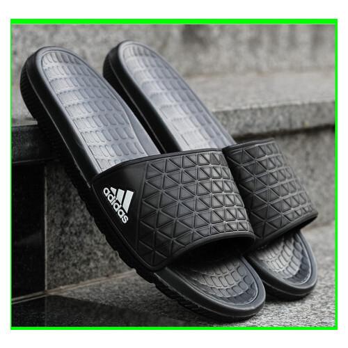 Мужские Шлёпанцы Тапочки ADIDAS Сланцы Адидас Чёрные (размеры: 41)
