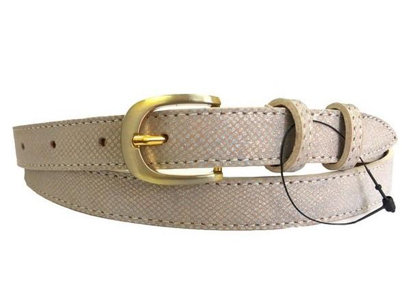 Женский узкий кожаный ремень Sergio Torri 6-0036