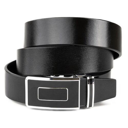 Ремень мужской с автоматической черной пряжкой Vintage 20293 Черны