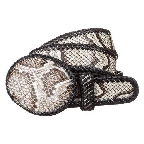 Ремень женский Snake Leather 18190 из натуральной кожи питона Разноцветный