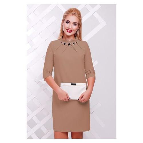 Платье FashionUp Бусинка PL-1357 46 Бежевый