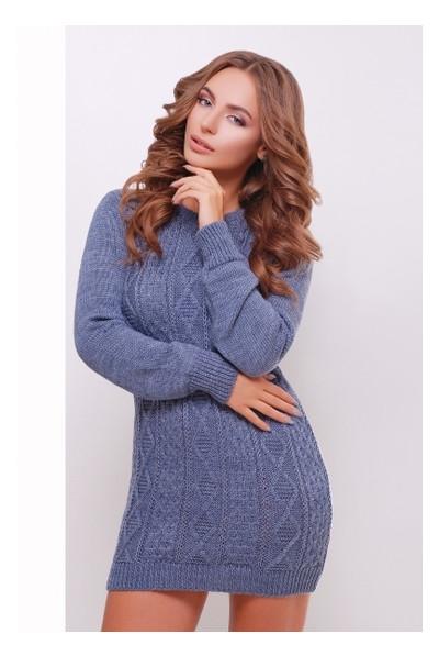 Платье-туника Irmana 143 р. универсал Светлый джинс