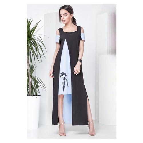 Платье Irmana Бамбук  черный р. M Голубой