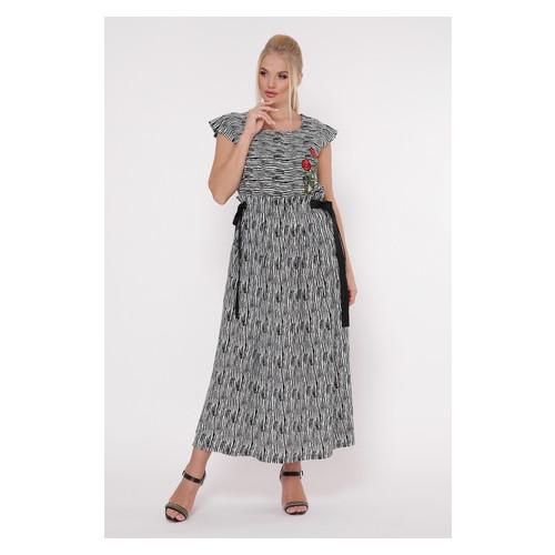 Платье Irmana Афродита зебра 52 Черно-белый